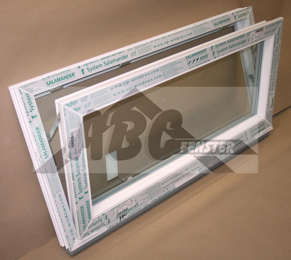 Neu ABC Fenster - Kunststofffenster Kellerfenster Salamander 120x60 cm  IY33