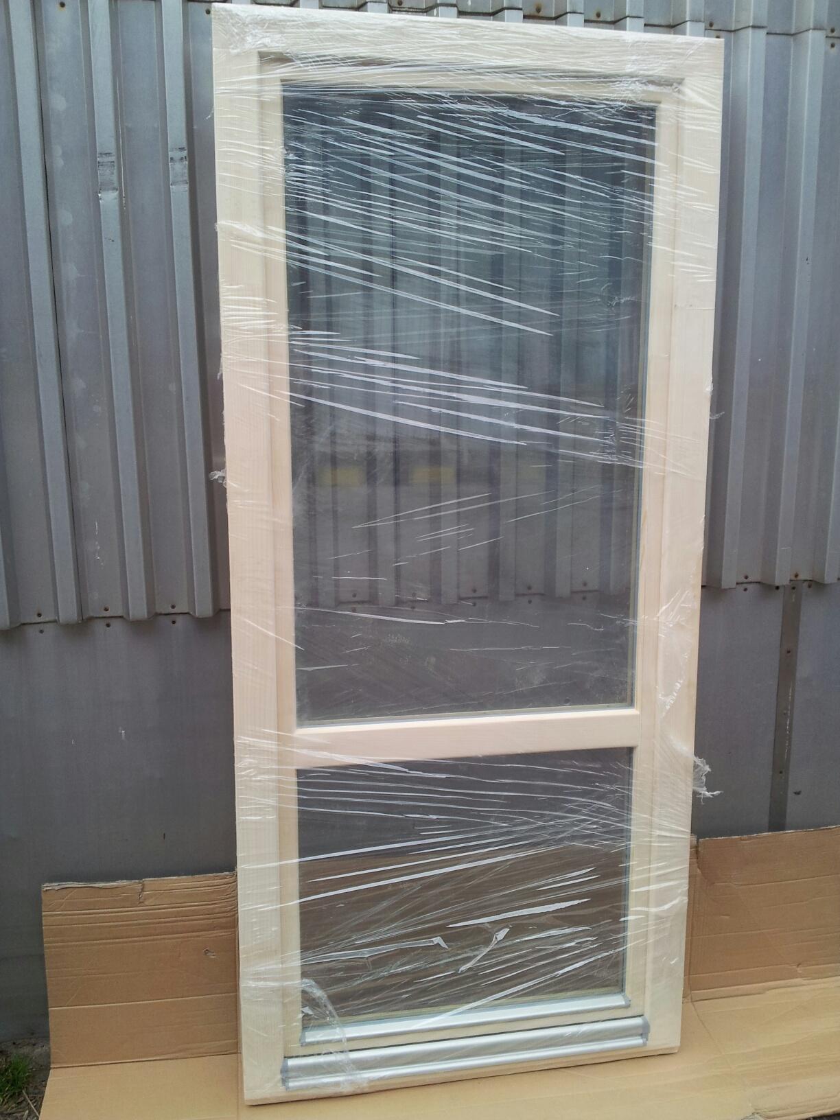 abc fenster holzbalkont r 90 cm breit x 200 cm hoch europrofil fichte. Black Bedroom Furniture Sets. Home Design Ideas