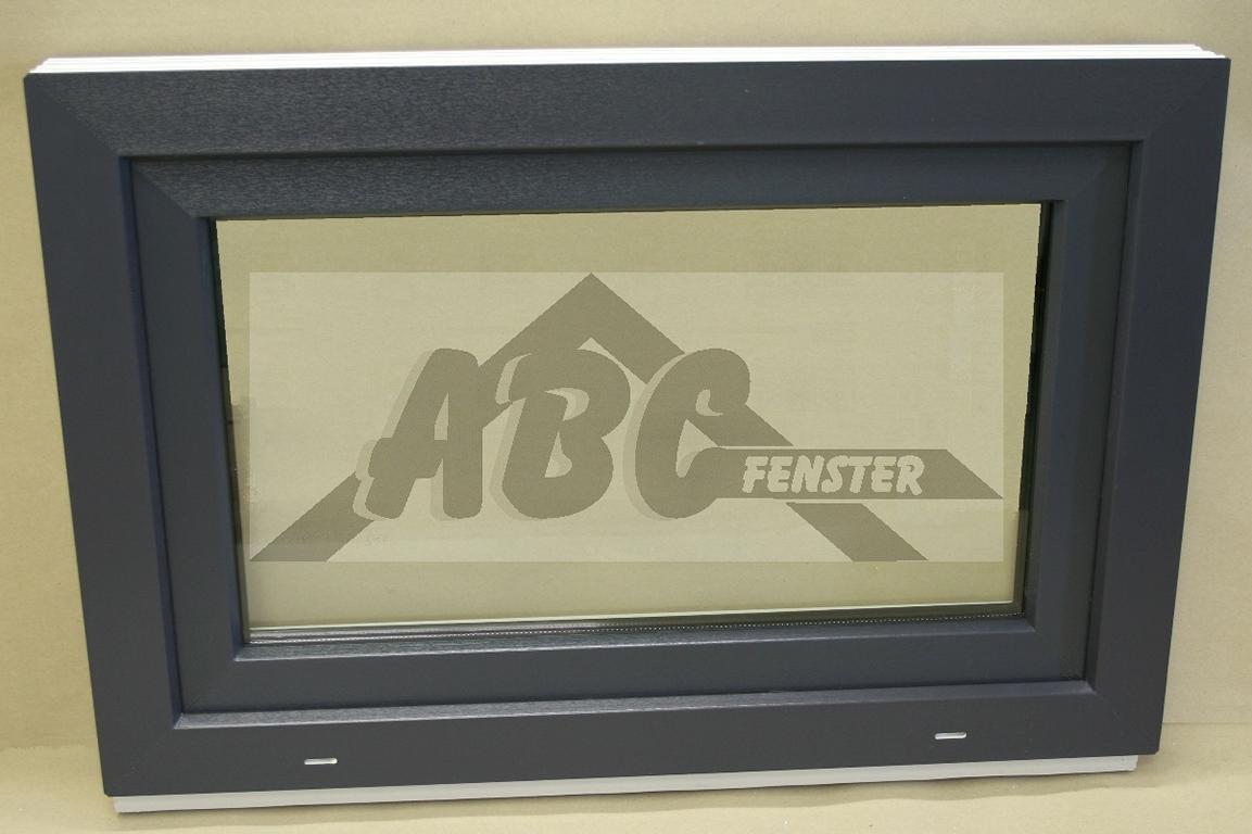 Kunststofffenster anthrazit innen  ABC Fenster - Kunststofffenster Salamander 90x60 cm (b x h), außen ...