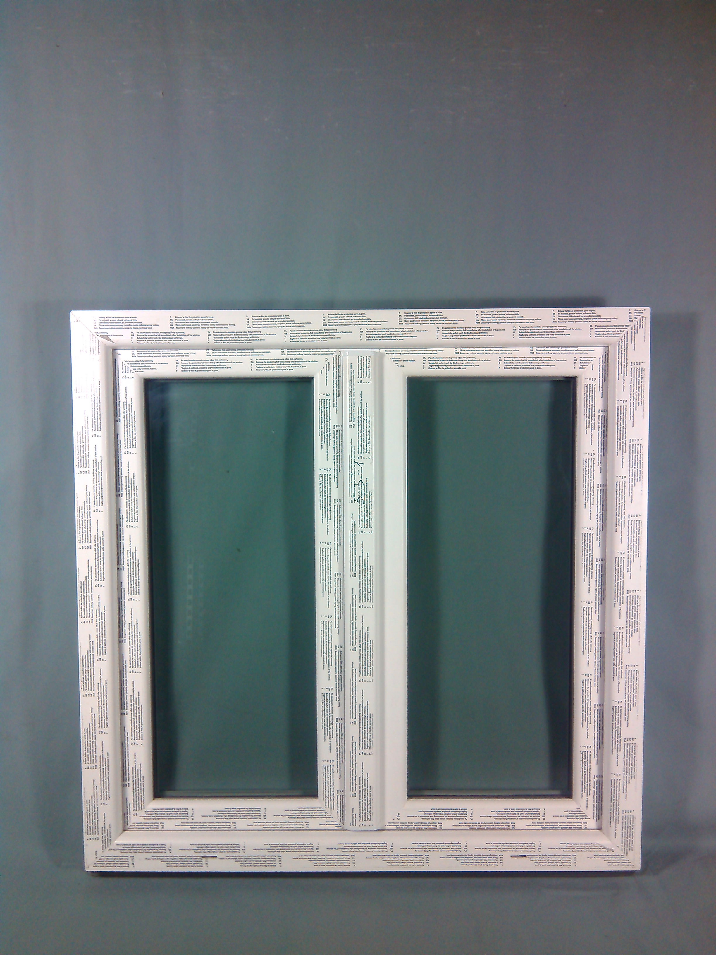 2 Flügel Fenster PVC Weiß  DK-L DK-R  1800 x 1500 Breite x Höhe in mm