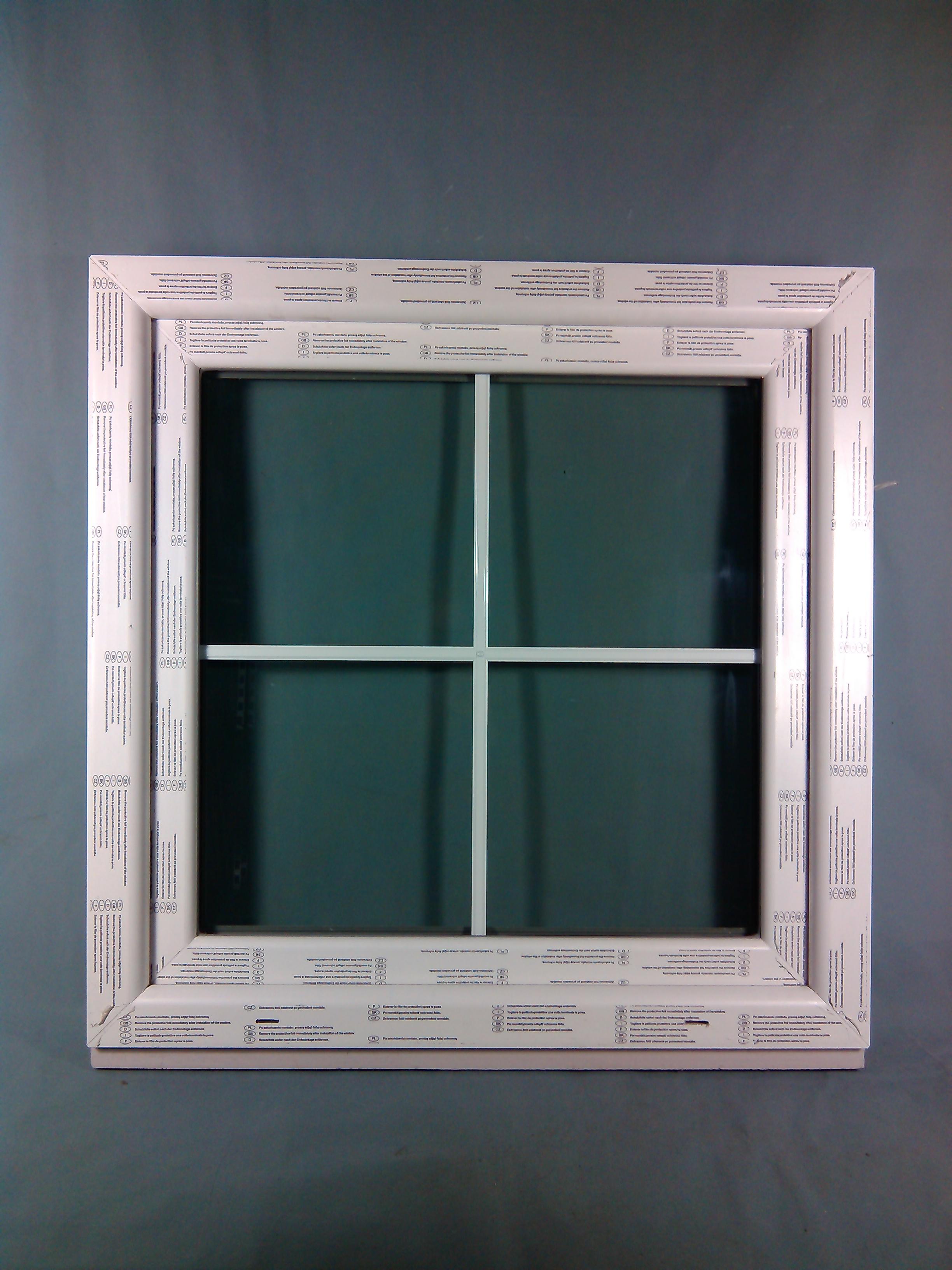 Abc fenster kunststofffenster seebach 8000 90x90 cm b x h wei mit innenliegende sprossen - Kunststofffenster mit sprossen ...